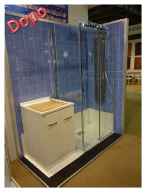 Trasformazione della vasca in doccia novabad azienda for Camminare attraverso la doccia alla vasca