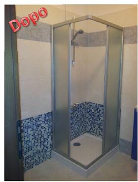 Piastrelle doccia mosaico idee creative di interni e mobili - Posa piatto doccia prima o dopo piastrelle ...