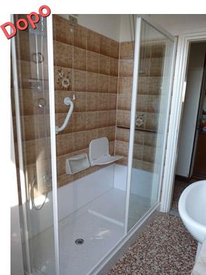 Trasformazione della vasca in doccia novabad azienda for Trasformare vasca in doccia